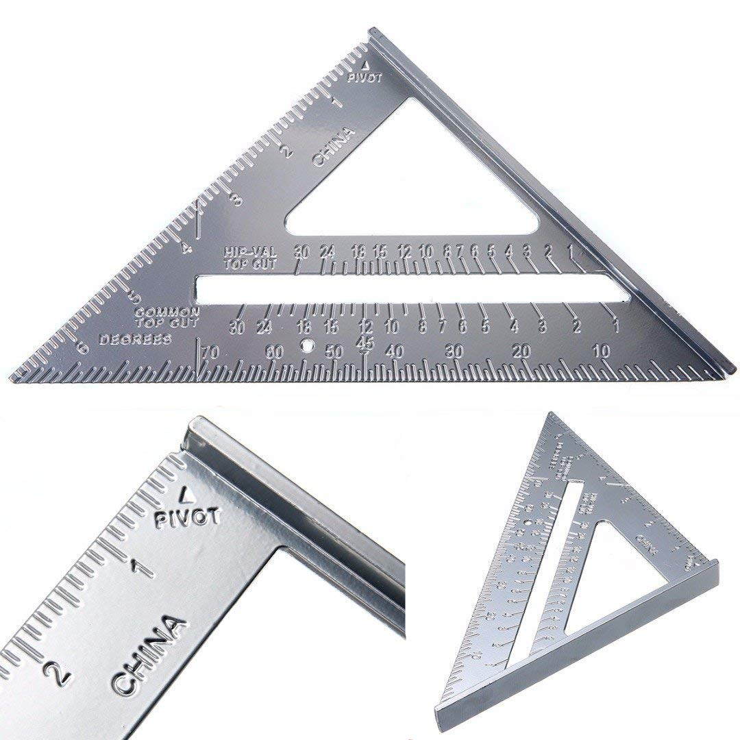 7' Aluminum Roofing Square Scale Speed Carpenter Framing Measuring Tool (Aluminum) Mayitr