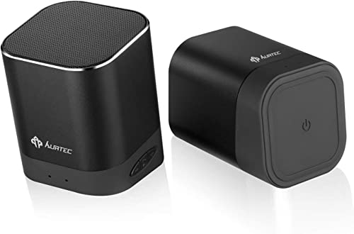 Portable Bluetooth Speaker 2019 Upgraded, AURTEC Dual Wireless Speakers with True Wireless Stereo Technology TWS , Strong Bass and Powerful Volume, Bluetooth 4.2 for iPhone, Echo, Android and More