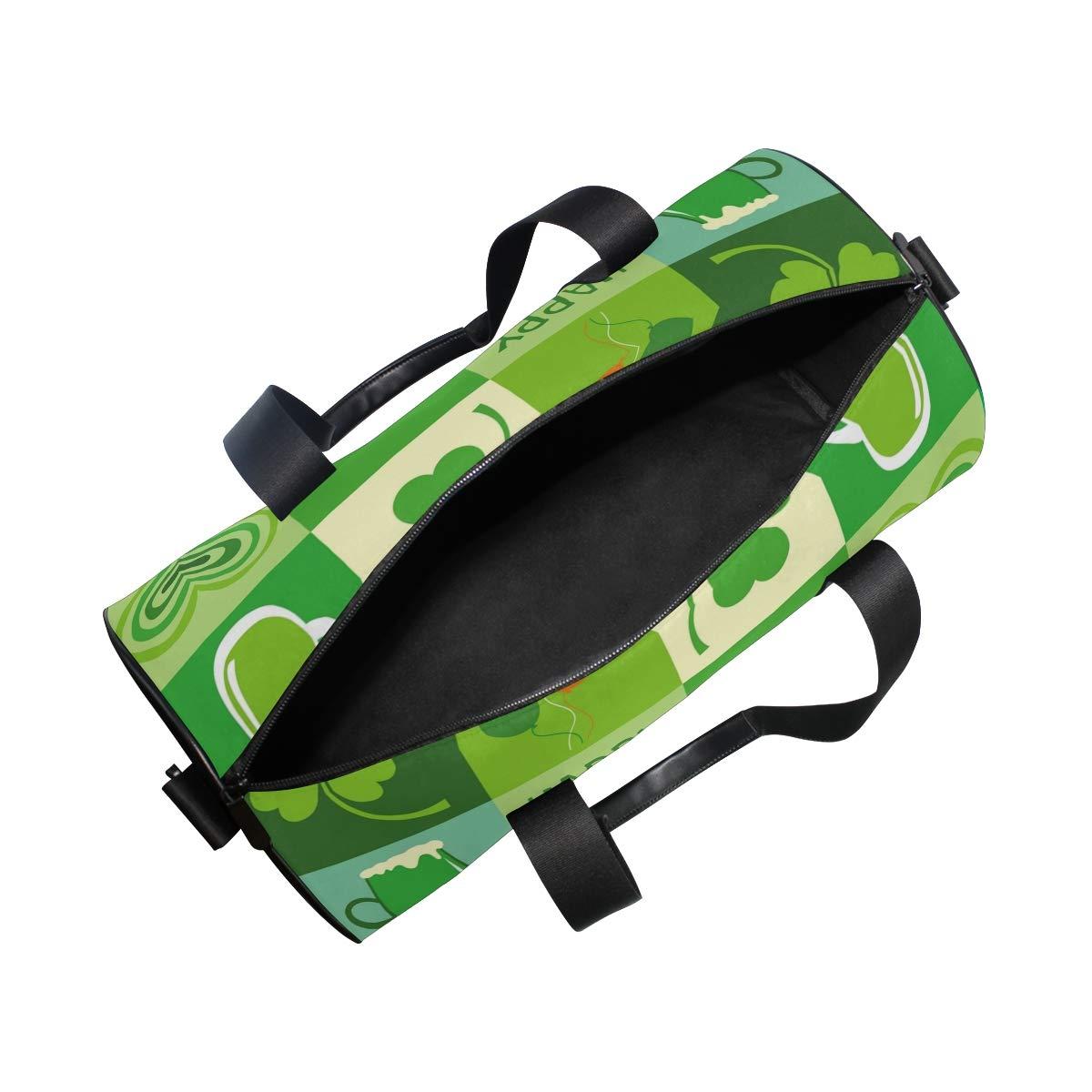 Sports Gym Duffel Barrel Bag Happy St Travel Luggage Handbag for Men Women