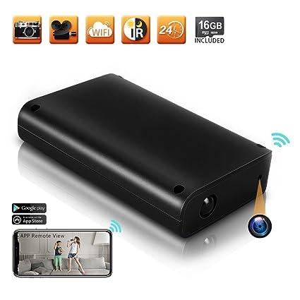TEKMAGIC 16GB 1920x1080P HD Red WiFi Cámara Espía Banco de Energía Detección de Movimiento DV Videocámara