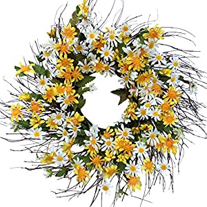 "Field of Flowers Wreath - 24"" 113"