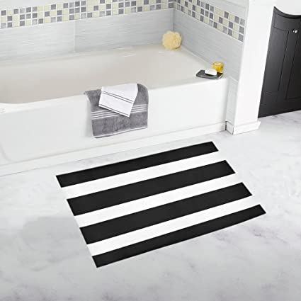 Amazoncom Interestprint Horizontal Straight Lines Stripes Black