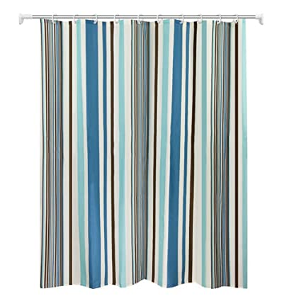 Image Unavailable Not Available For Color TRGKHGG Colorful Striped Shower Curtain