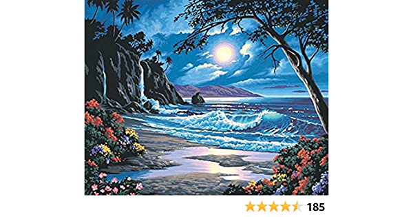 Kit Moonlit Paradise Dimensions Needlecrafts Paintworks Paint By Number Kit