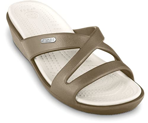 d5b7ba78b93b crocs Women s Patricia Ii Khaki and Oyster Basic Fashion Sandals - W4
