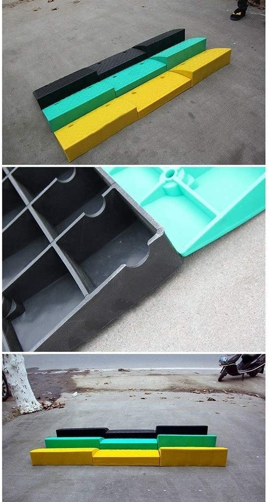 JNMDLAKO Yellow Step Pad Bright Color Plastic Wheelchair Ramps Shopping Center Garage Kerb Ramps Multifunction Service Ramps