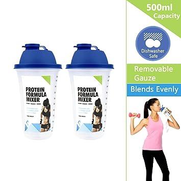 Proteína Coctelera Botella de 500 ml ideal para Fórmula Bebida con ...
