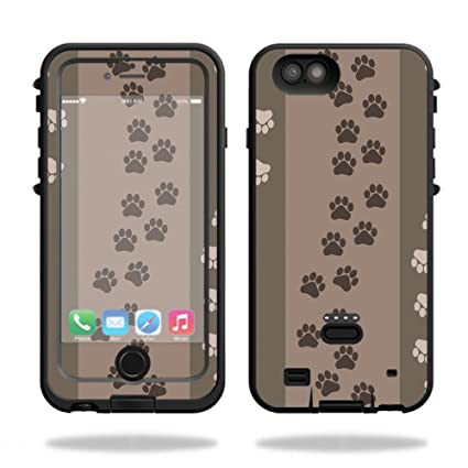 new concept f30c2 07d26 MightySkins Protective Vinyl Skin Decal for LifeProof Fre Power iPhone 6  Plus/6s Plus Case wrap Cover Sticker Skins Paw Prints