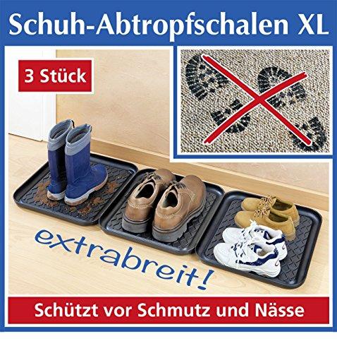 WENKO SCHUH-ABTROPFSCHALEN XL,3ER SET
