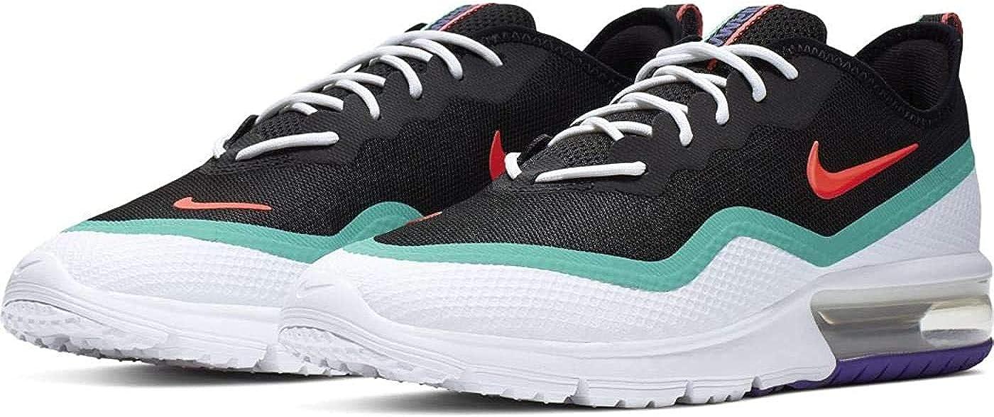 Nike Herren Air Max Sequent 4.5 Traillaufschuhe, Schwarz-Weiß Mehrfarbig Red Orbit White Kinetic Green 600