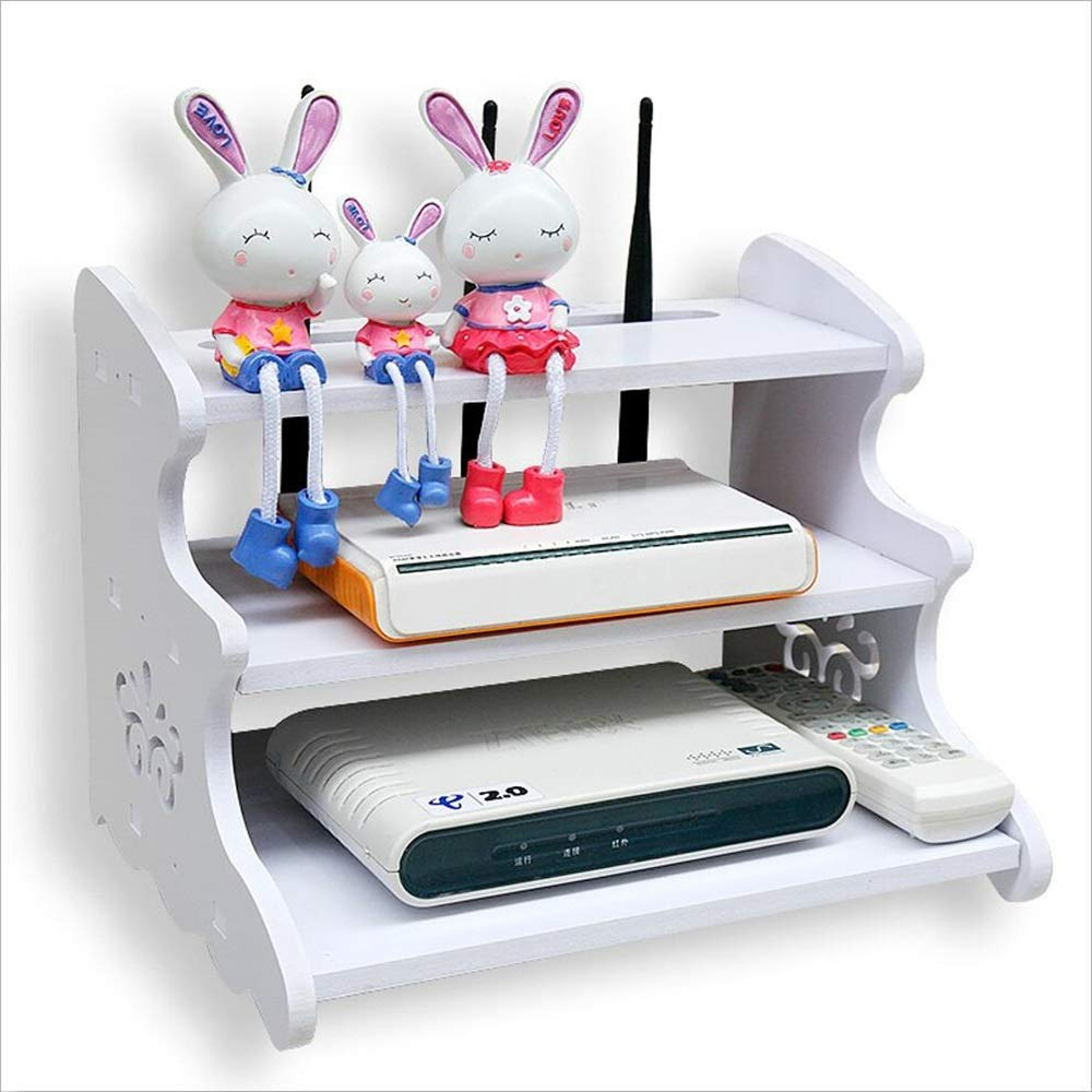 FU HOME Living Room Router Storage Box, Wall-mounted Wireless Wifi Finishing Box Rack (free Punching) by FU HOME