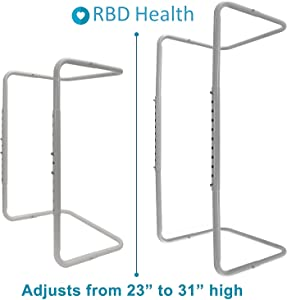 Adjustable Blanket Lifter/Support (Height of 23 – 31 Inches), Made from Heavy Duty Steel, Ideal for Arthritis, Restless Legs, Neuropathy, CRPS, Foot Cramping, Sensitive Toes, Burns, Surgery Recovery