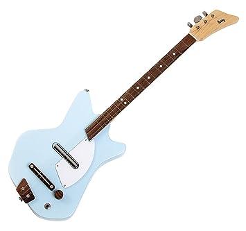 Loog LGE02B Solid Body - Guitarra eléctrica de 3 cuerdas, color azul: Amazon.es: Instrumentos musicales