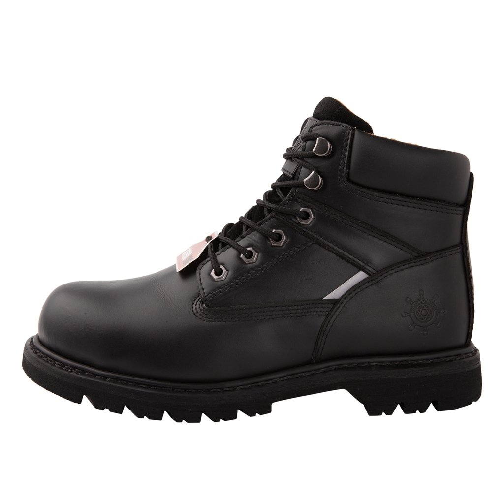 GW Men's 1606ST Black Steel Toe Work Boots 10.5 M US by KINGSHOW