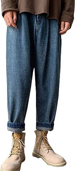 [BSCOOL]デニムパンツ メンズ ゆったり ジーンズ ストレート オシャレ ワイドパンツ デニム ジーパン 無地 ファッション ロングパンツ カジュアル シンプル ズボン