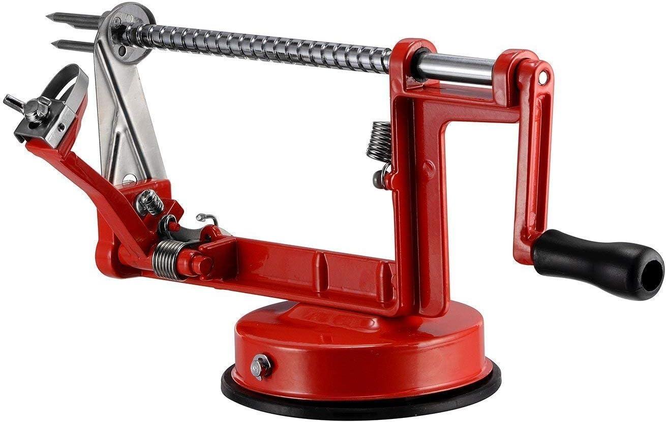 Am-Light 3 in 1 Apple Fruit Peeler, Corer, Slicer Stand, Red