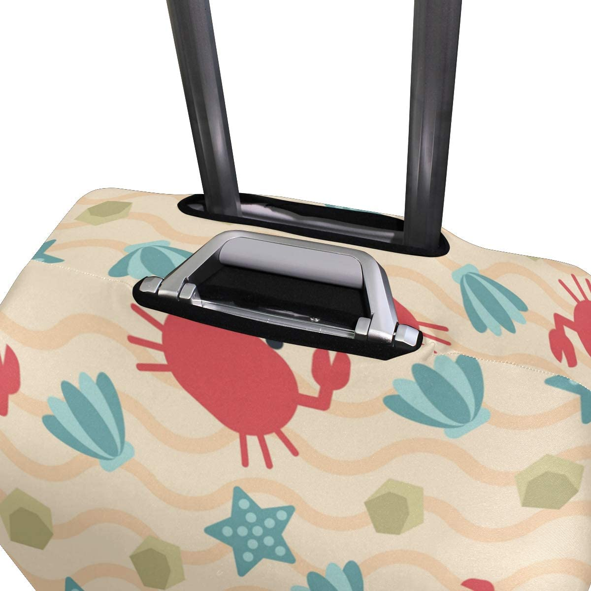 Nanmma Cute 3D Crab Pattern Luggage Protector Travel Luggage Cover Trolley Case Protective Cover Fits 18-32 Inch