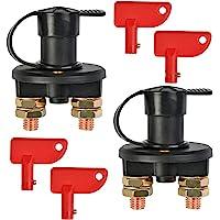 Gebildet 2pcs Interruptor de Desconexión del Aislador de la Batería del Coche,Cortacorrientes Bateria para Coche Barco…