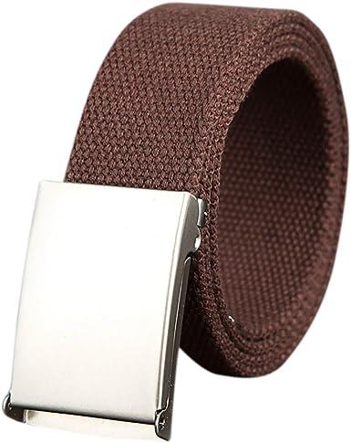 Ishine Cinturones Hombre Elasticos Moda Mujer Cinturones De Lona Con Metal Hebilla Para Pantalones Amazon Es Ropa Y Accesorios