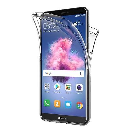AICEK Funda Huawei P Smart, Transparente Silicona 360°Full Body Fundas para Huawei P Smart Carcasa Silicona Funda Case (5,65 Pulgadas)