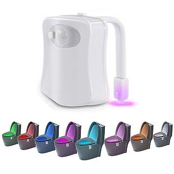 Amazon.com: Activado por Movimiento asiento de inodoro luz ...
