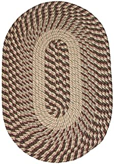 product image for Constitution Rugs Plymouth 5' Round Braided Rug Natural Sunlight Yellow