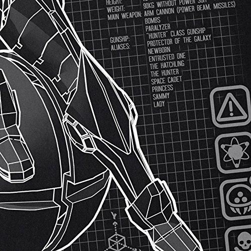 Samus Hormiga Black Switch Ladies Nes Snes Blue Metroid Nerd Gamer camiseta dCq6C