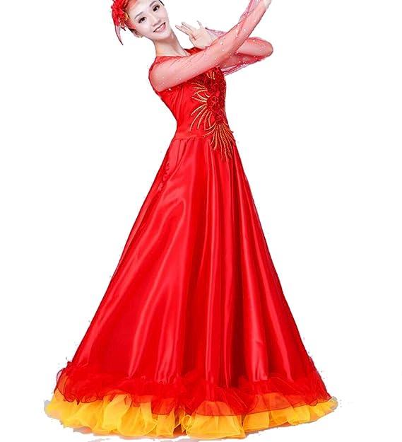SMACO Faldas de Flamenco españolas Trajes de Baile de ...