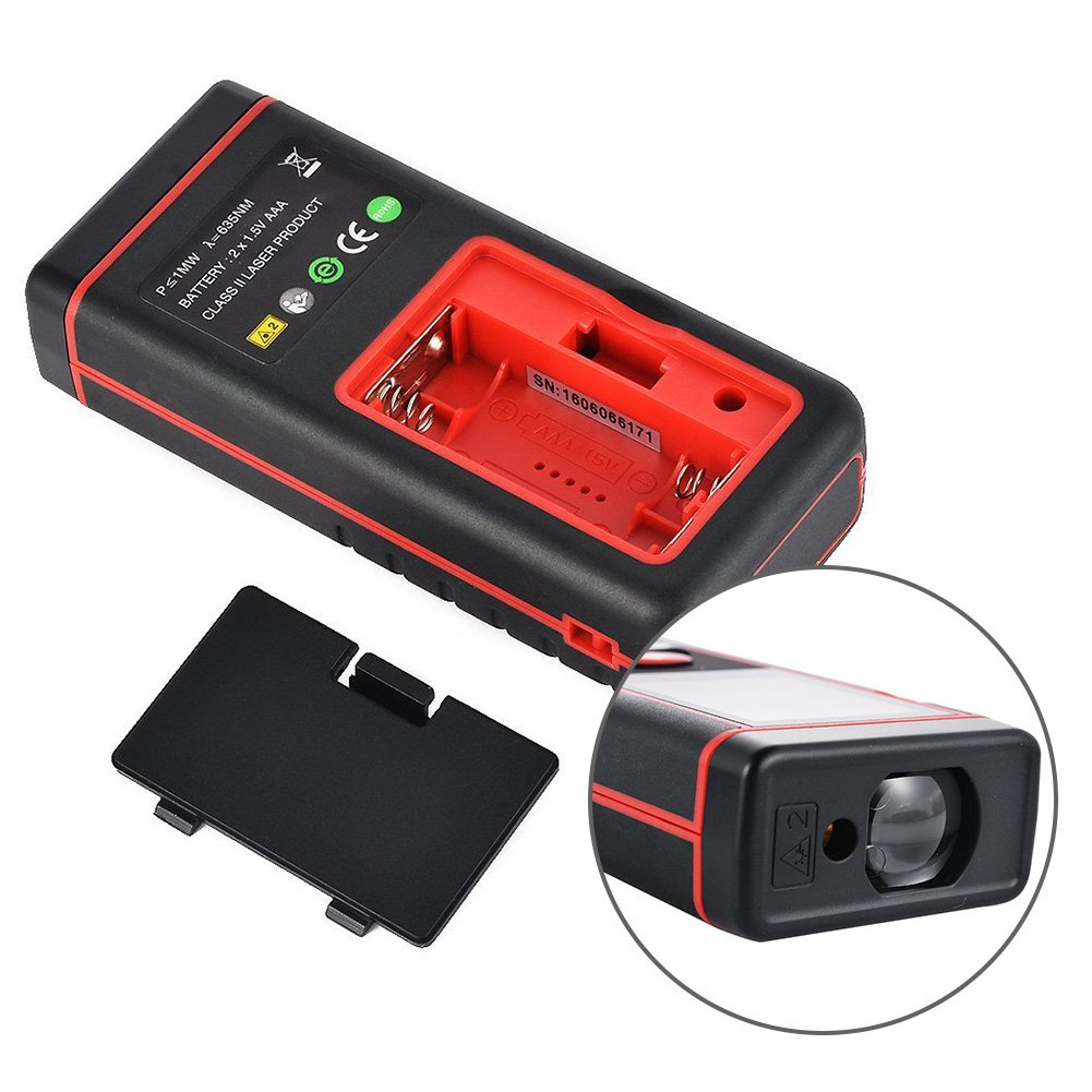 TopOne Digital Laser Distance Meter Rangefinder Measuring Tester Layout Tool with LCD Backlight Display (S40M) by TopOne (Image #4)
