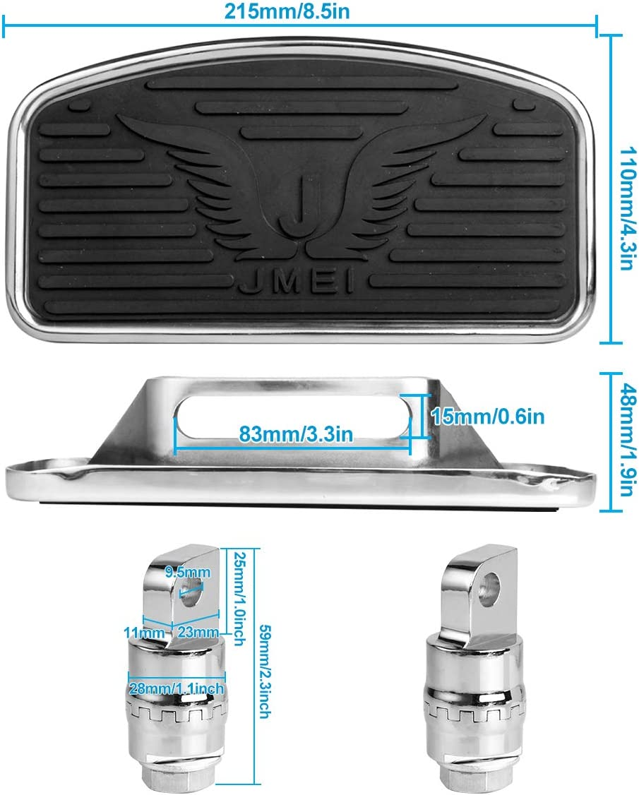 Floorboards with Angle Adjustable Function Motorcycle Rear Foot Peg for Harley XL883 XL1200 X48 72