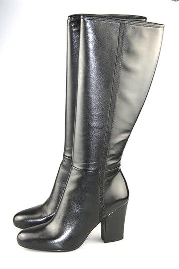 Prada Women s 3W4980 Black Leather Boots EU 40.5   US 10.5 82f42ac49253