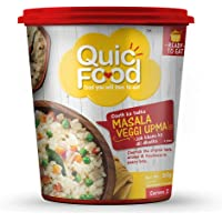 QuicFood Masala Veggi Upma - Ready to Eat Food (Freeze Dried) Approx 240 gm Re-hydrated Weight (net Weight 60 gm)