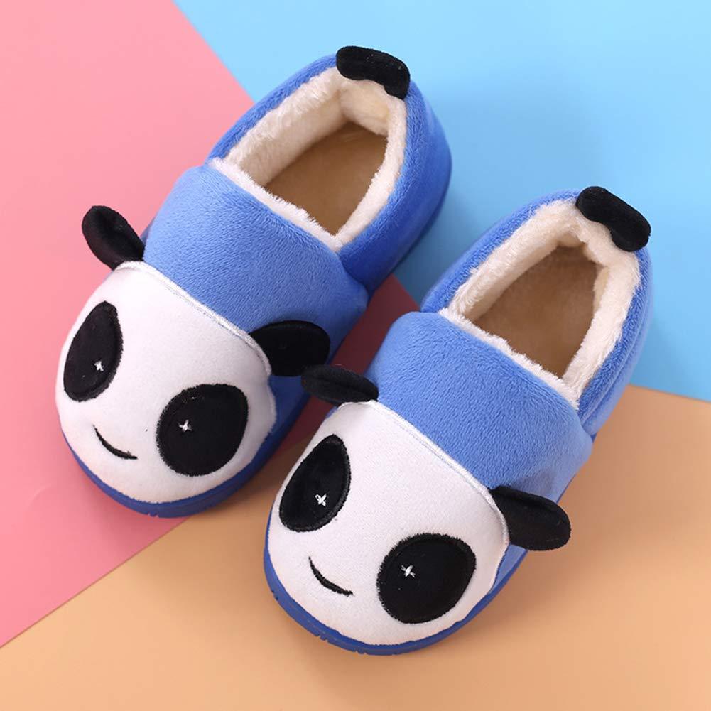 Unisex Kids Comfort Plush Winter Warm House Indoor Shoes Uirend Soft Anti Slip Memory Foam Slippers