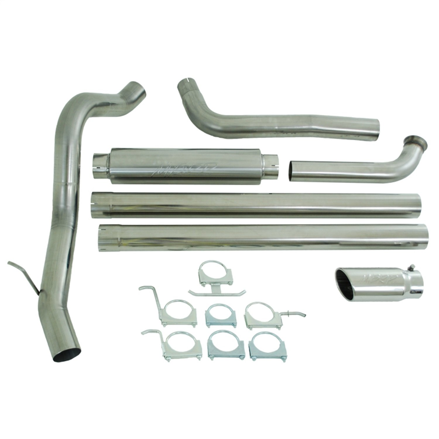 Turbo Back MBRP S6240AL 4 Cab /& Chassis Single Side Exit Exhaust System Aluminized Steel