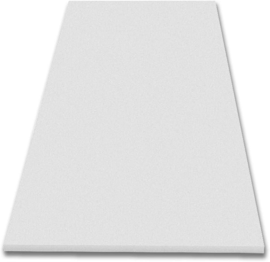 lisse en mousse acoustique pyramidenschaumstoff, tCH mousse Dibapur mousse insonorisante plateau 1 200 x 100 x 3 cm blanc