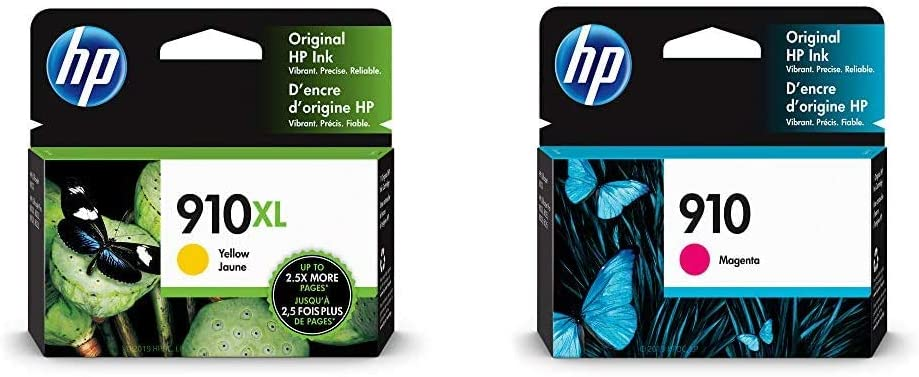 HP 910XL | Ink Cartridge | Yellow | 3YL64AN & 910 | Ink Cartridge | Magenta | 3YL59AN