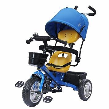 Triciclos niños Bicicleta 1-4 años Carrito de bebé Carrito de niños Bicicleta Trike Niños 3 Ruedas (Color : Azul) : Amazon.es: Juguetes y juegos