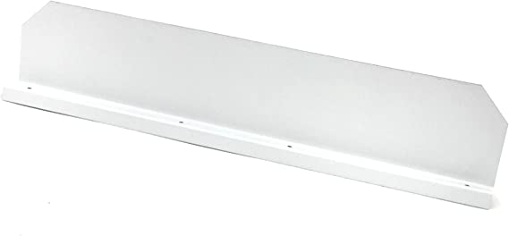 Gutter Valley Splash Guard Straight Low Gloss White 3 Ct Amazon Com