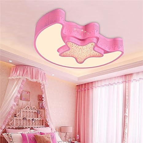 Qiang Da Luna y Estrellas Dormitorio para niños Lámparas de ...