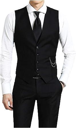 Kayhan Hombre Chalecos Corte Camisa Manga Larga Slim Fit S - 6XL Modello: Amazon.es: Ropa y accesorios