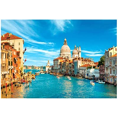 1000 Piece Jigsaw Puzzle - Venice Grand Canal Landscape Educational Assembling Toys - Developing Fine Motor Skills, Memory, Shape Color Recognition & Sorting - Gift for Kids Boys, Girls & Adults: Toys & Games