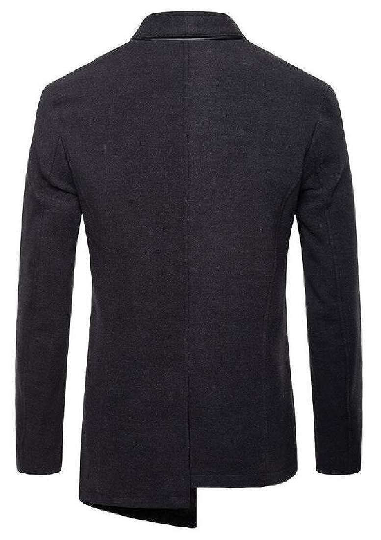 Alion Mens Lightweight Casual Slim Fit Blazer 3 Button Suit Sport Coat Jacket