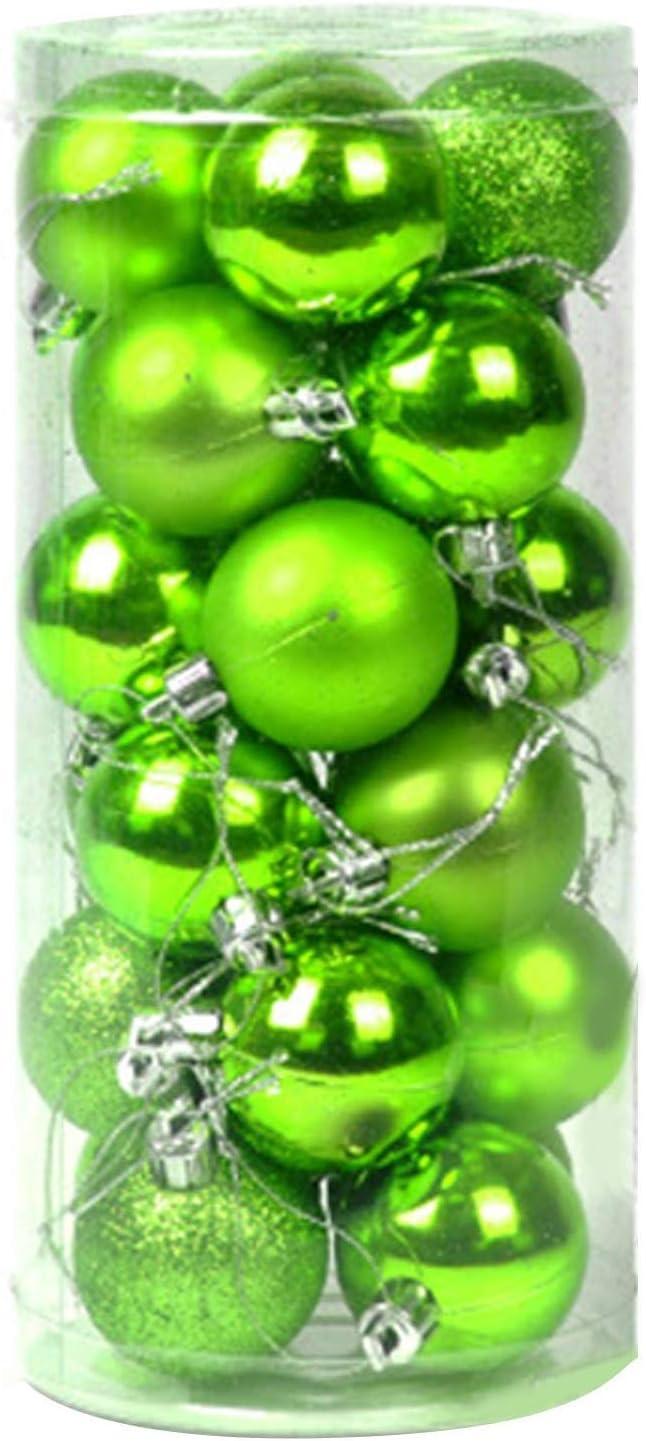 Bola De Navidad Verde, Deco De Navidad Bola De Plástico Transparente Bolas De Navidad Decoraciones De árboles De Navidad para Colgar Decoración De Bricolaje, 4Cm / 6Cm (6cm, Verde)