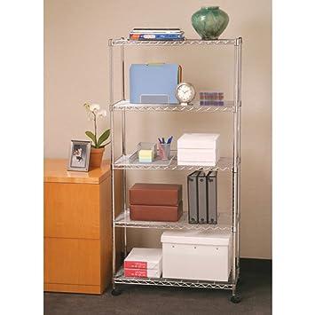 Shelving System Garage With Wheels Rolling 5 Shelf Portable Home Kitchen  Pantry Bathroom Organizer Storage