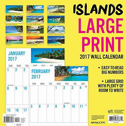 2017 monthly wall calendar islands large print. Black Bedroom Furniture Sets. Home Design Ideas