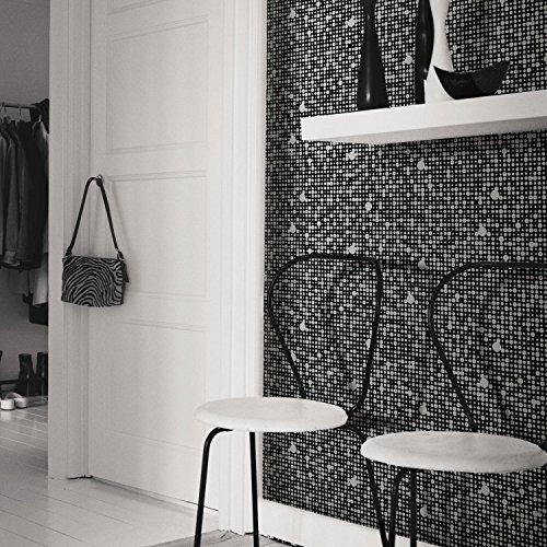 RoomMates RMK9105WP Polka Dot Peel and Stick Wallpaper, B...