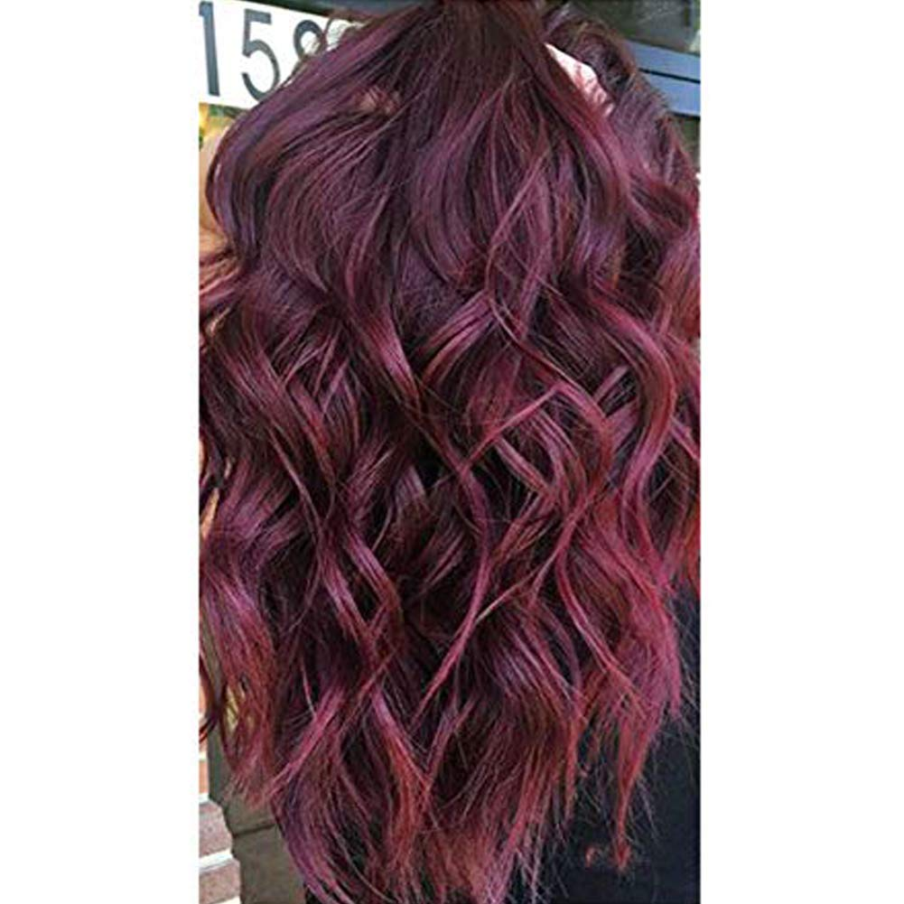 【Easter's Off Starts】Moresoo 18 Inch Wine Red Hair Extension Tape in Extensions Remy Human Hair 40p Seamless 100% Real Human Hair Extensions 100g Per Pack PU Tape on Medium Length 61NLhBafy6L