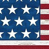 Amscan Americana Luncheon Napkins Patriotic 4th of