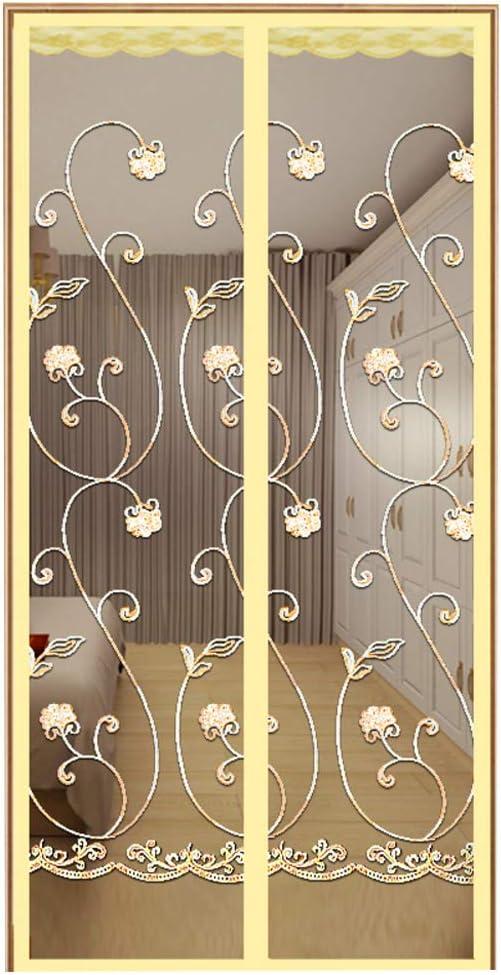 GWW de malla magnética mosquitera para puerta, junta de estanqueidad, cortina de puerta magnética de mosca para patio, terrazas, puertas correderas, sin taladrar agujeros transpirables, 100 x 210 cm: Amazon.es: Hogar