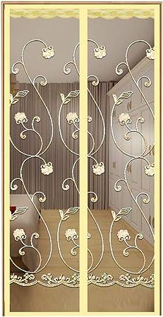GWW - Mosquitera magnética para puerta, junta de estanqueidad, cortina de puerta magnética de mosca para patio, terrazas, puertas correderas, no taladrar agujeros transpirables, 80 x 220 cm: Amazon.es: Hogar